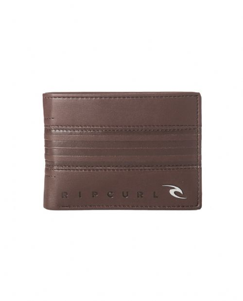 RIP CURL MENS WALLET.RAPTURE FAUX LEATHER BROWN MONEY NOTE COIN PURSE 8S E1 9